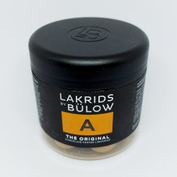 A - The Original, small, 125 g, Lakrids by Bülow, Danmark